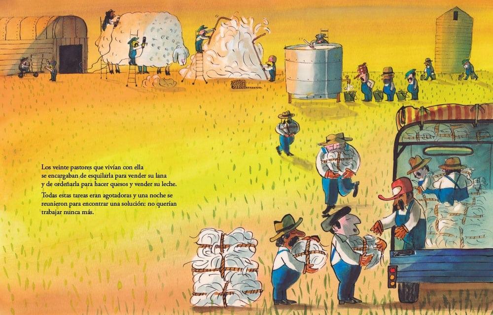 vive con veinte pastores. Da tanta leche y tanta lana que