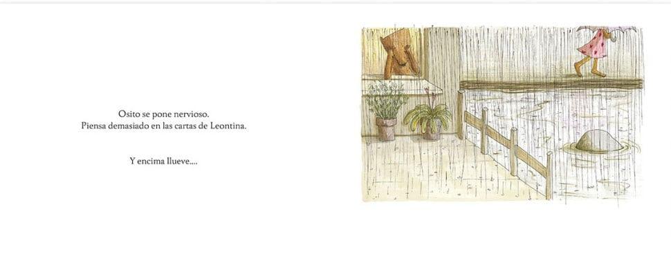al lado de un río. Lleva una vida tranquila y está encantado. Leontina