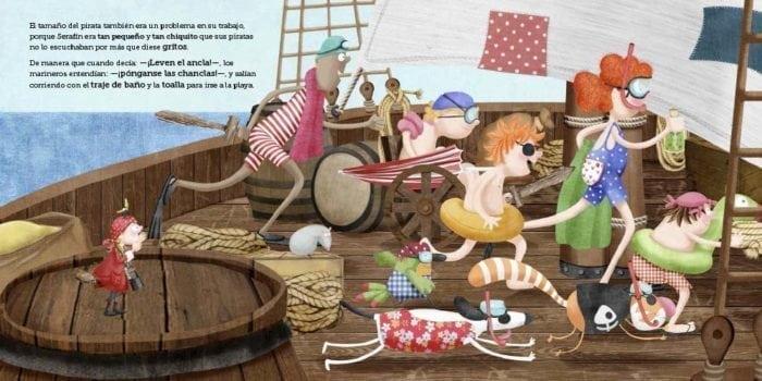 que todo el mundo lo llamaba el pequeño pirata Serafín.