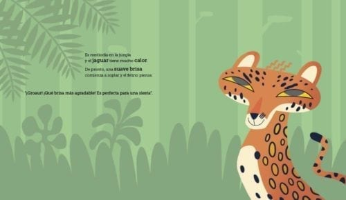 el jaguar quiere dormir una siesta. Entonces ve a un coatí y le pregunta: -¿Podrías hacerme un favor? ¿Podrías despertarme exactamente en 10 minutos?