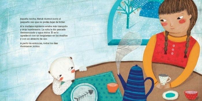Una fábula invernal que nos narra la amistad entre una niña esquimal y un oso polar. Algunos amigos son inseparables.