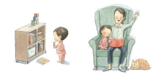 Ideal para iniciar a los niños en la lectura de secuencias sencillas y para identificar acciones que les son familiares.