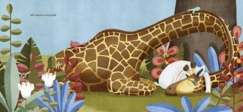 pero ella no es una jirafa… No se parece a los canguros ni a las cebras…