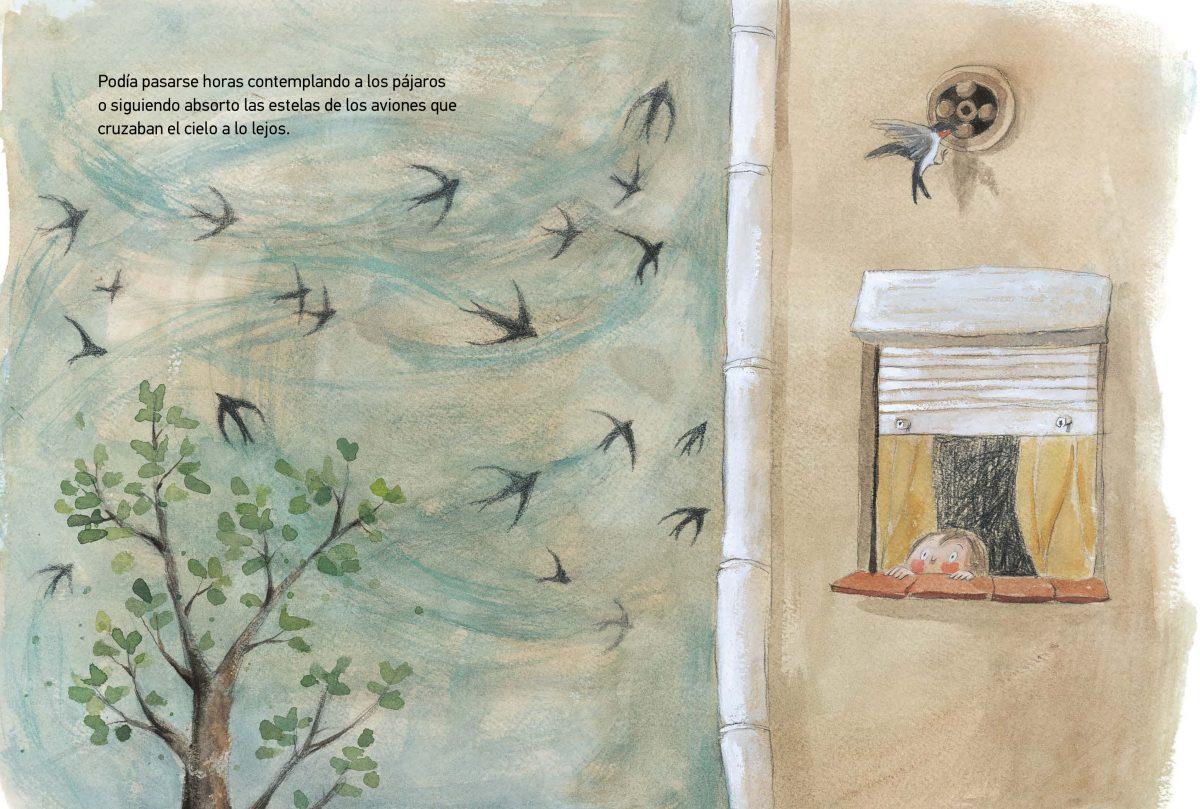 su madre le explicó que había otras formas de cumplir su sueño y le puso un libro en las manos. Ese mismo día