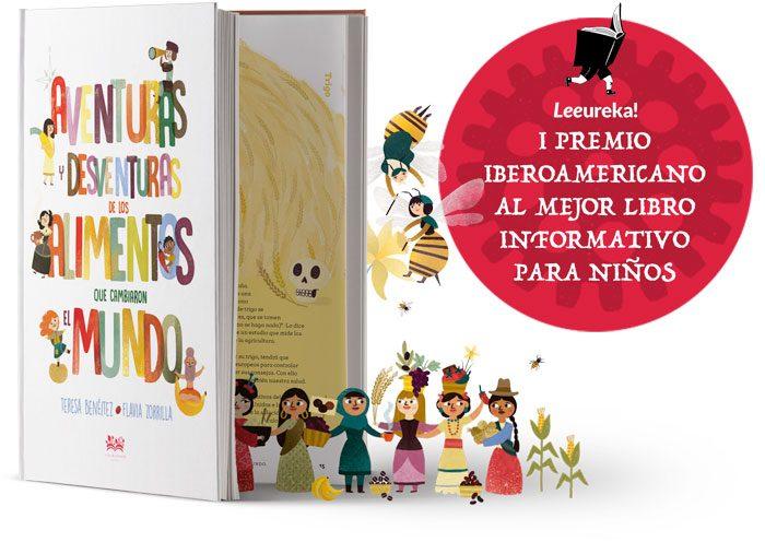 Un libro que nos lleva de viaje por todo el mundo siguiendo las peripecias de quince alimentos