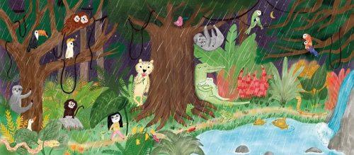 Abre las solapas y descubre los secretos que esconden las noches del bosque