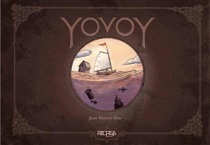 Bello libro álbum sin texto que cuenta la historia de un pequeño navegante que emprende un viaje