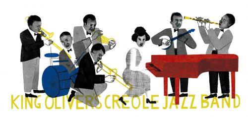 un trabajo gráfico desarrollado a partir de la música y el contexto social de la época.