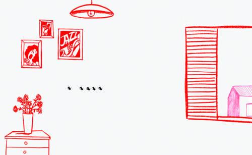 cinco moscas se encuentran un objeto peculiar. A base de prueba y error