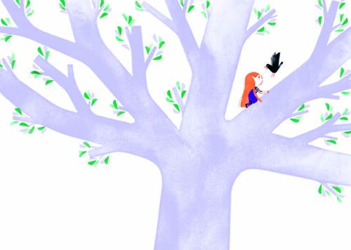 y cuando éste salta a un árbol