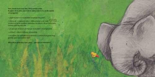 la más pequeña de una familia de elefantes